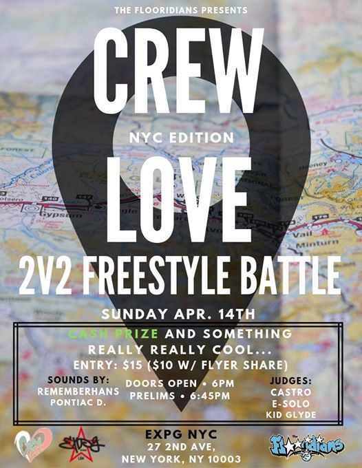 Crew Love NYC  2v2 Freestyle Battle & Party