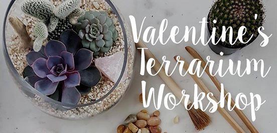 Valentines Terrarium Workshop at The Heartwood Cafe - Feb. 14