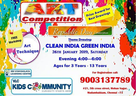 ART Competition at VLC Kids community21, 5th cross street