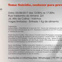 Seminrio - Suicdio conhecer para prevenir.