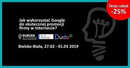 Szkolenie Jak wykorzysta Google w firmie Bielsko od 27.02.2019
