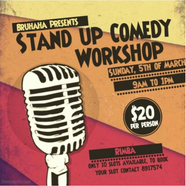Introduction To Standup Comedy Workshop At Kampong Rimba Brunei