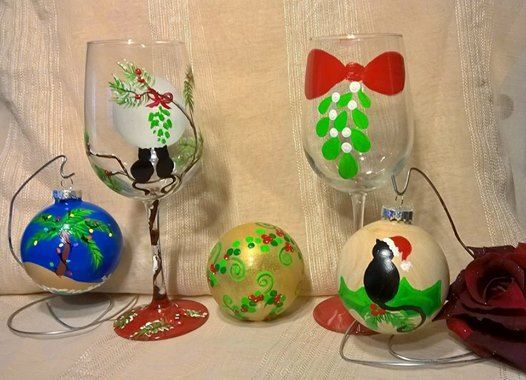 Holiday Ornament & Glass Painting at LMC 12.14.18