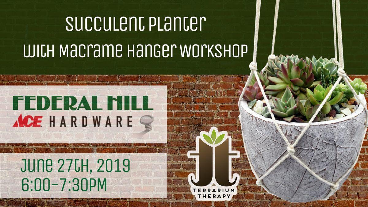Succulent Arrangement Planter Workshop at Federal Hill ACE Hardware