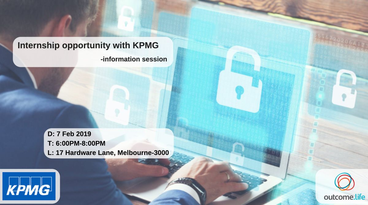 Internship opportunity with KPMG- information session at