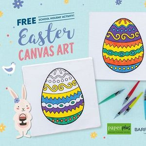 Free School Holiday Activity - Easter Canvas Art