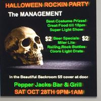 Halloween Rockin Party Hosted by Mike Caro and the Management Band