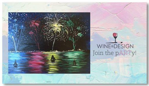 Fireworks Paint And Sip At Wine Design Winston Salem Nc Carolina