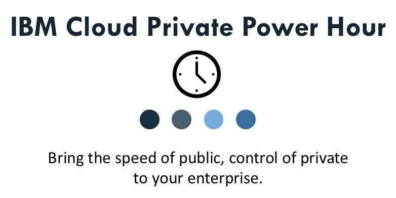 IBM Cloud Private for Data (ICP4D) at Online Event - Registration