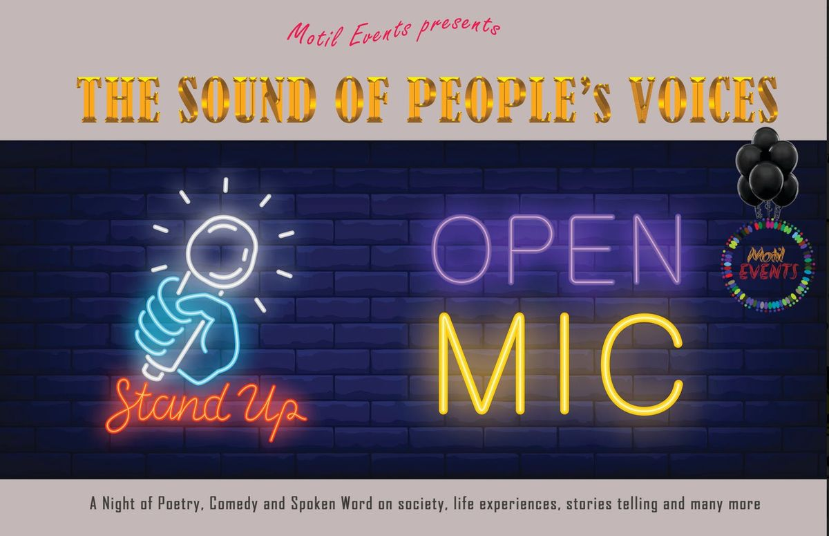 OPEN MIC  Night - The Sound Of Peoples Voices