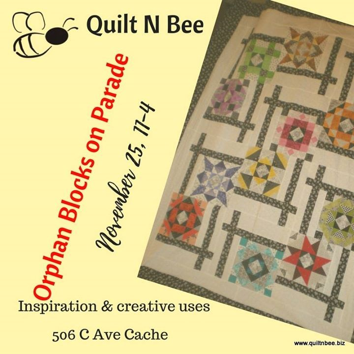 Orphan Blocks On Parade At Quilt N Bee Cache