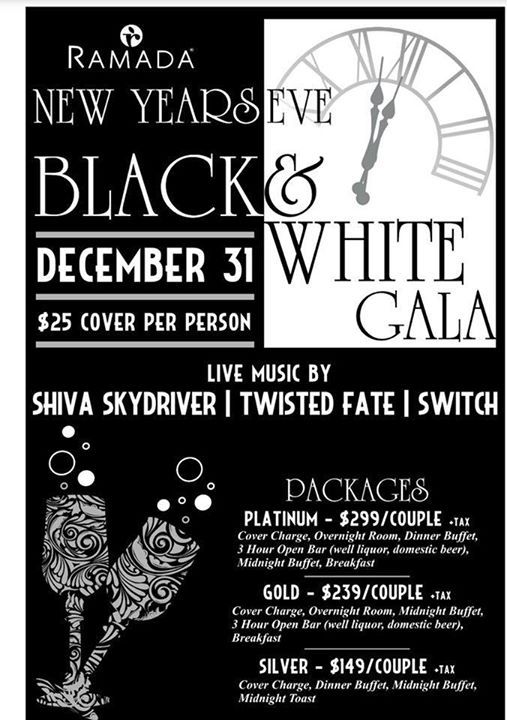 New Years Eve Black and White Gala