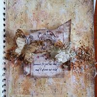 Journal PageCardsCanvas Mixed Media layout lots of mediums