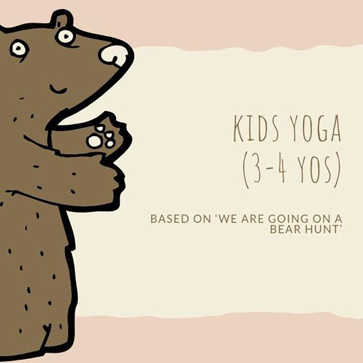 Kids Yoga(3-4 yos) Based on We Are Going on a Bear Hunt