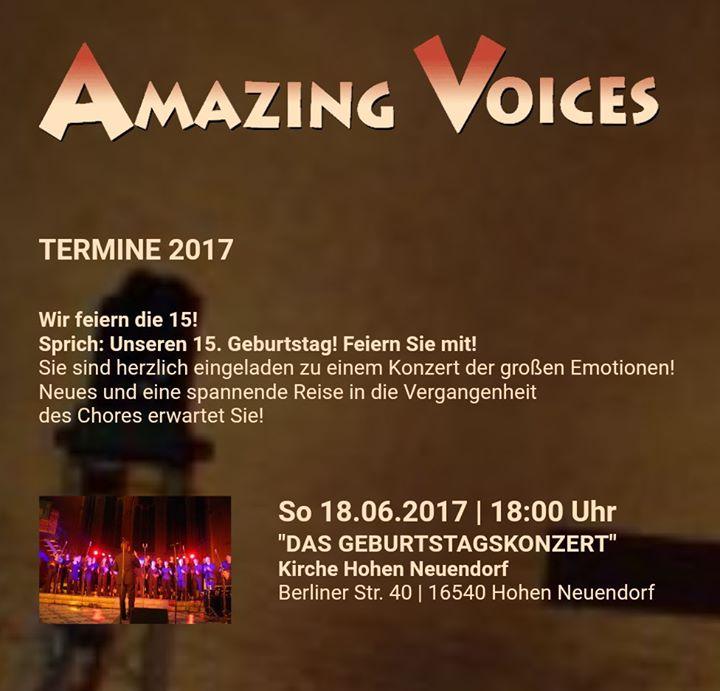 15 Jahre Amazing Voices Geburtstagskonzert At Evangelische Kirche
