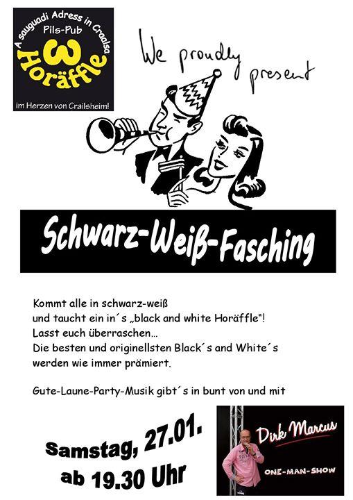 Schwarz Weiss Fasching At Pils Pub Horaffle Crailsheim