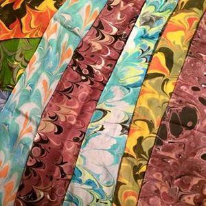 Silk Marbled Scarves Workshop with Adrienne Day