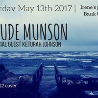 Claude Munson with sg Keturah Johnson at Irenes  Sat. May 13th