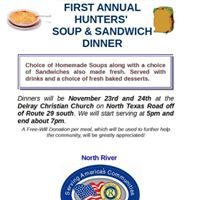 North River Ruritans First Annual Hunters Soup &amp Sandwich Dinner