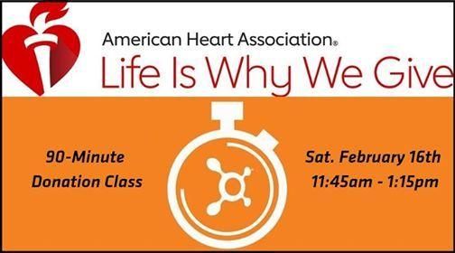 90-Minute American Heart Association Donation Class
