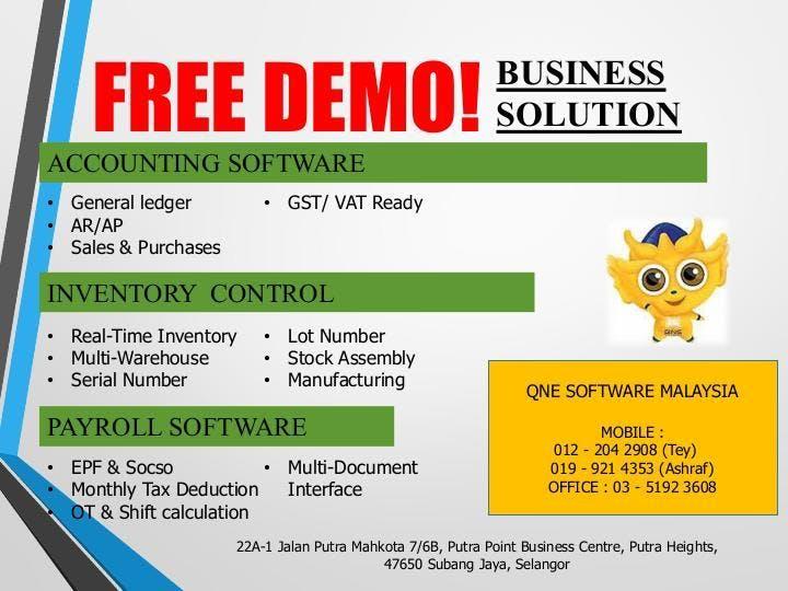 QnE Accounting Software Free Talk (General) at Putra Heights