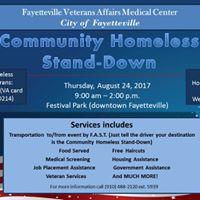 Community &amp Veteran Homeless Stand-Down
