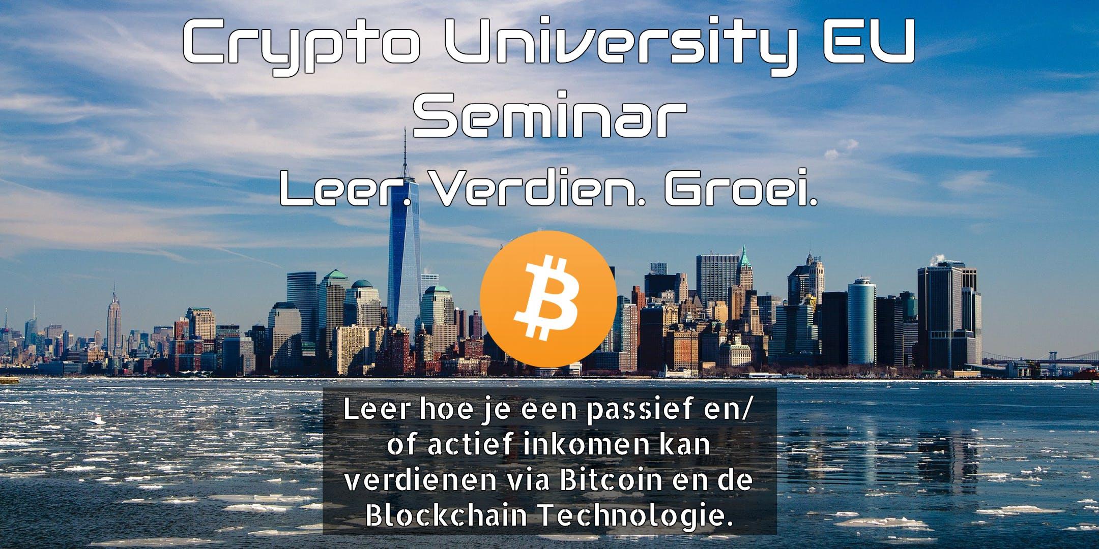 Crypto University EU - Bitcoin Educatie Succes Coaching en MEER.