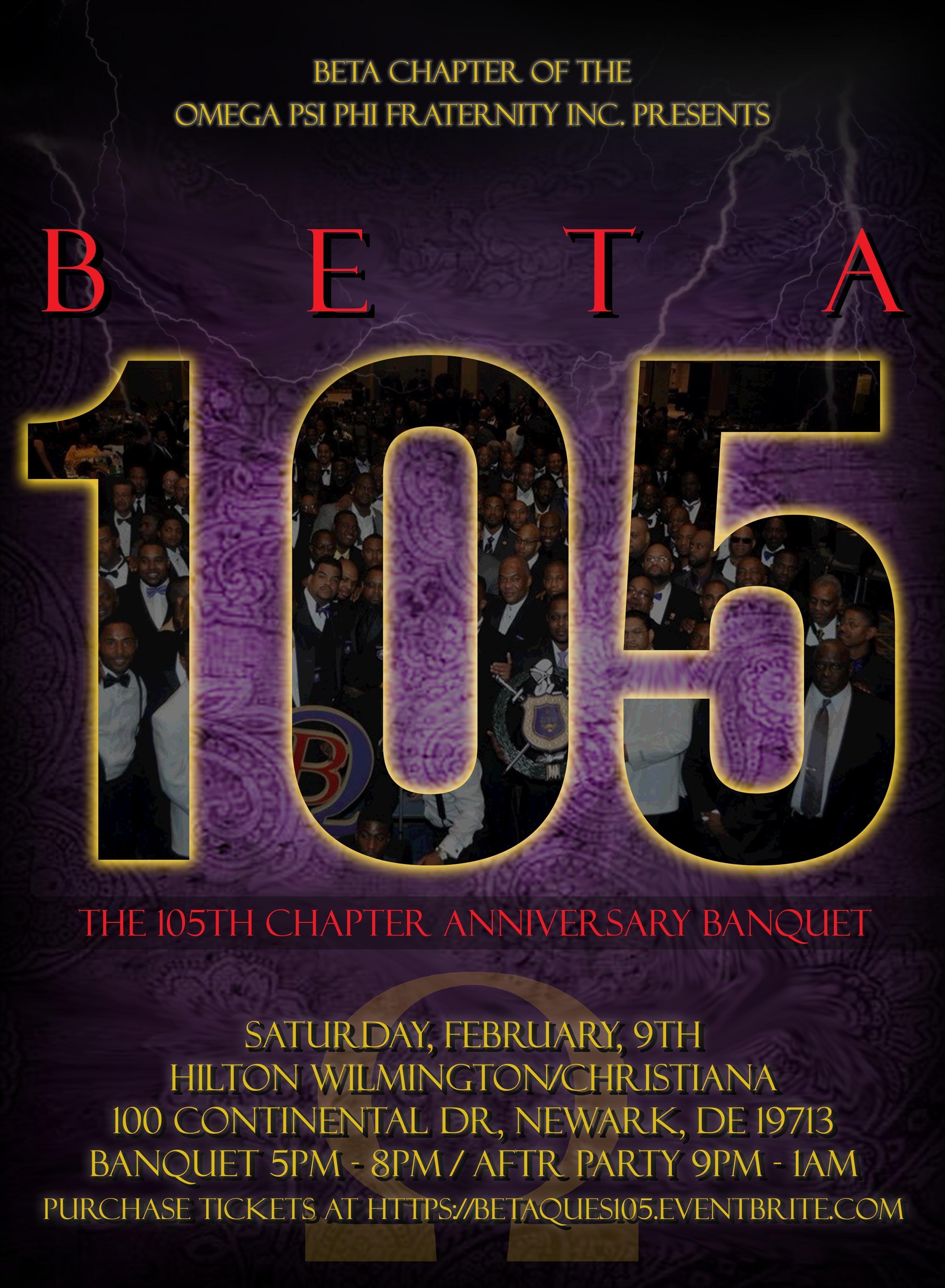 BETA Ques Present Beta 105 Banquet & Party Celebration