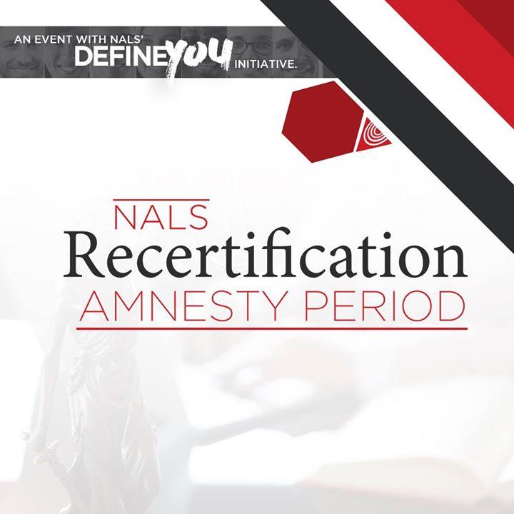 Nals Recertification Amnesty Period At Nalse Association For