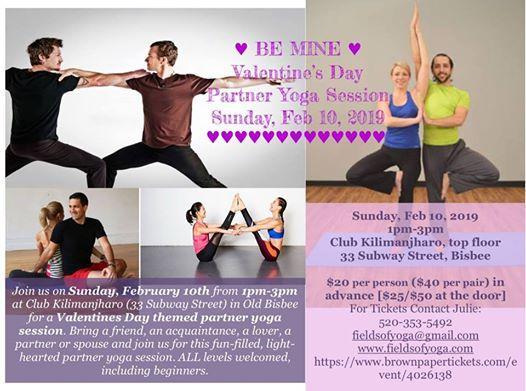 Valentines Day Partner Yoga Bisbee