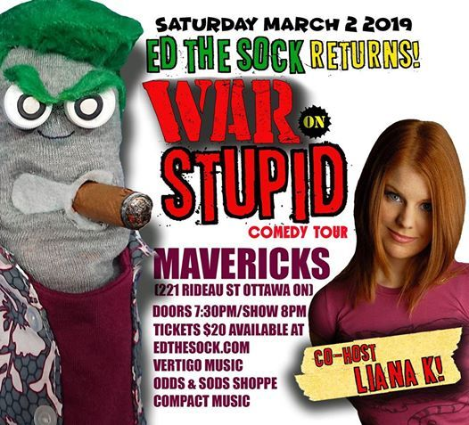 ED The Sock Live In Ottawa March 2nd At Mavericks