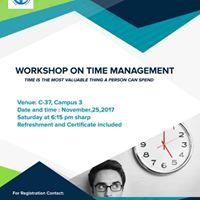 Workshop on TIME Management