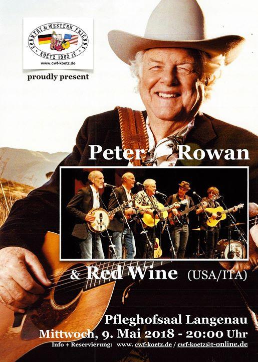CWFK presents Peter Rowan & Red Wine in concert