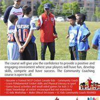 Community Cricket Coaching Course Workshop