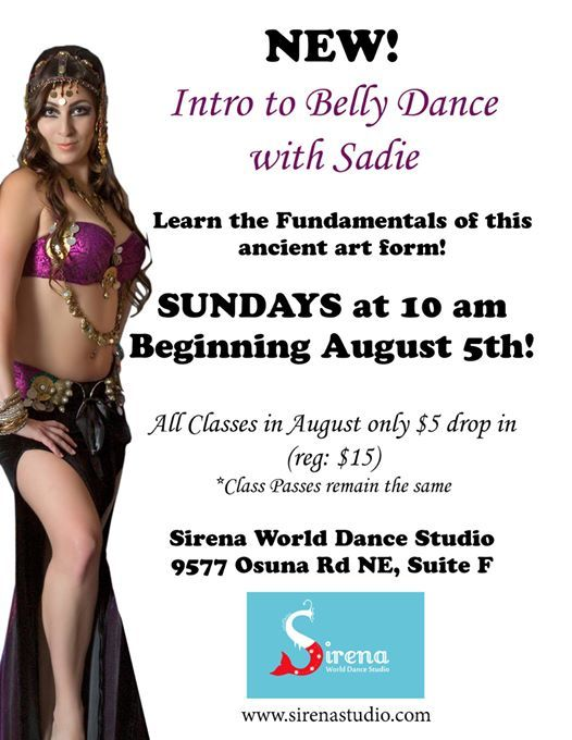 Sunday Fun Day Intro To Belly Dance Classes