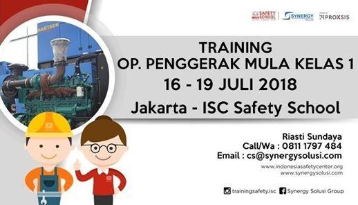 Training Operator Penggerak Mula Kelas 1 Tanggal 16-19 Juli 2018