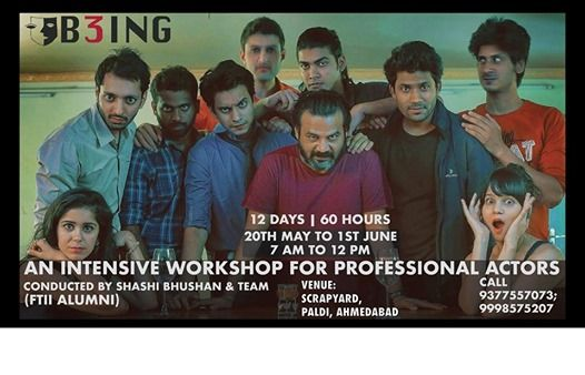 An Intensive Workshop for Professional Actors  B3ING