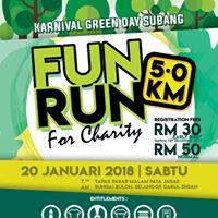 Fun Run for Charity 5.0 Km - Karnival Green Day Subang