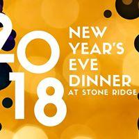 New Years Eve Dinner at Stone Ridge