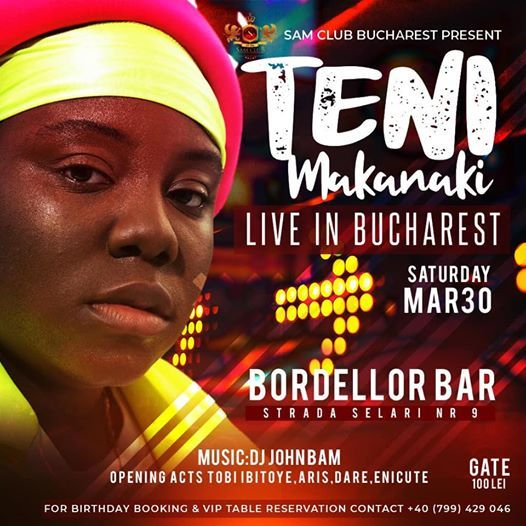 Teni Makanaki Live in Bucharest