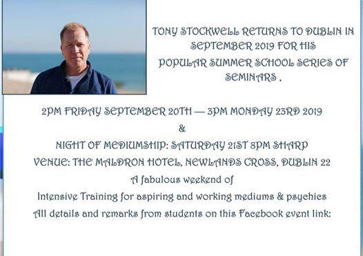 Tony Stockwell Dublin Intensive Training September 2019