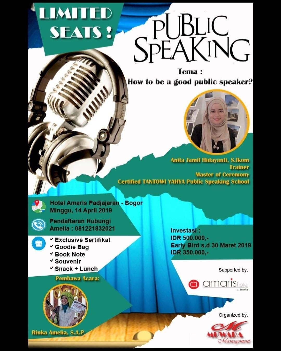 Seminar Public Speaking  How To be a good Public Speaker