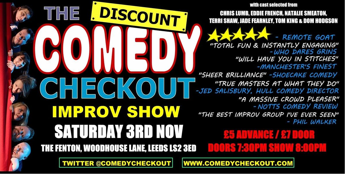 Discount Comedy Checkout - Improv Comedy Show - Leeds - Sat 3rd November
