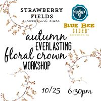 Autumn Everlasting Floral Crowns at Blue Bee Cider