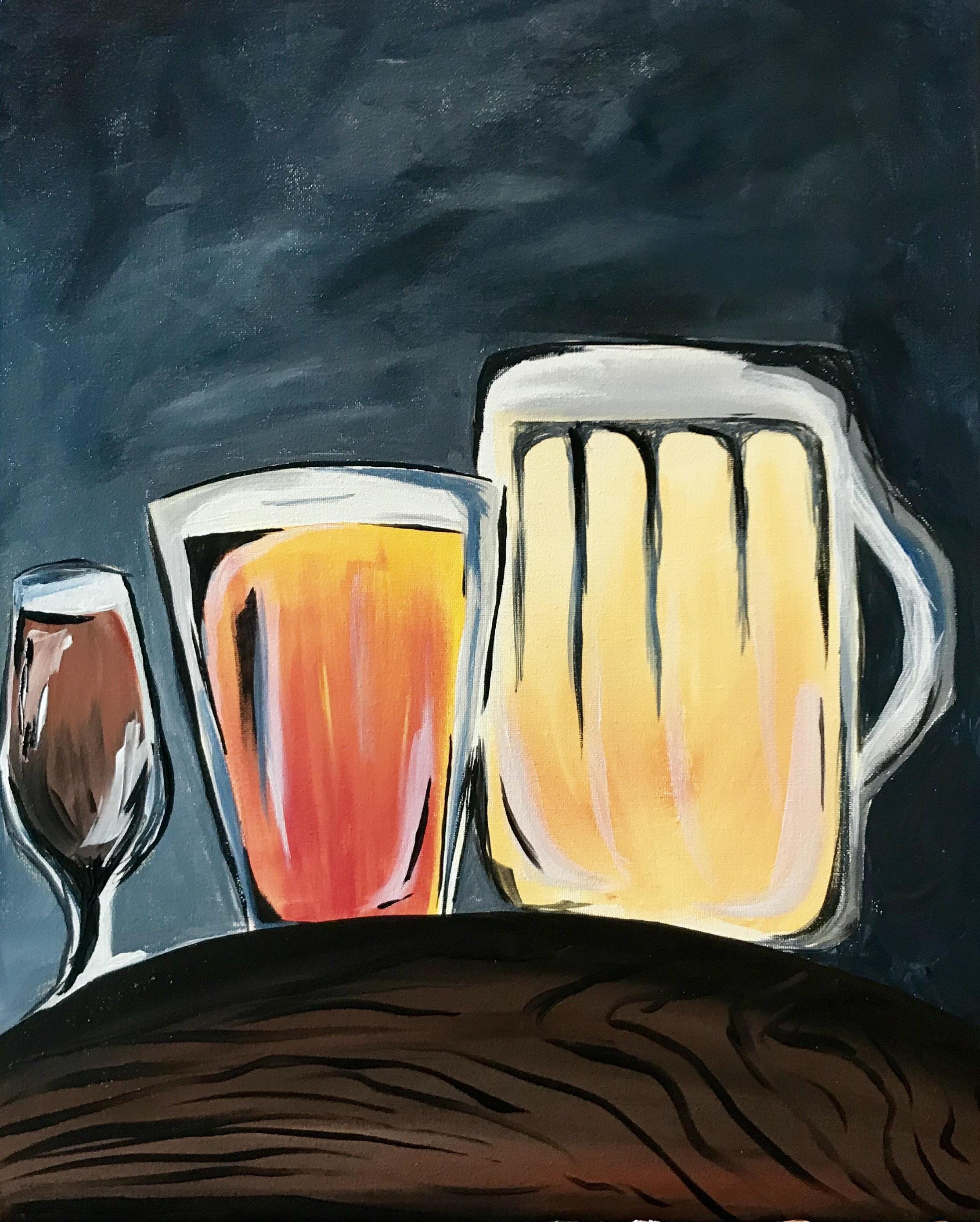 Pints and Paint with Olympia Girls Pint Out