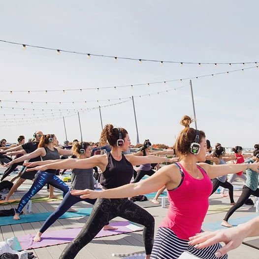 Flow and Flavor Rooftop Yoga at Smorgasburg