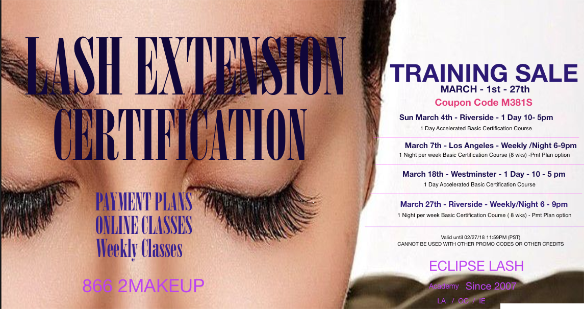 Eyelash Extension Certification 1 Day Course Oc Teaching