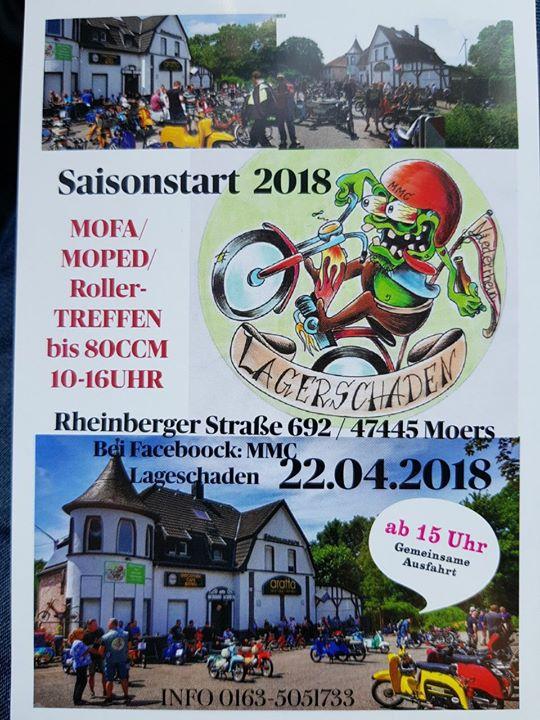 Mofa Moped und Rollertreffen des MMC Lagerschaden Niederrhein