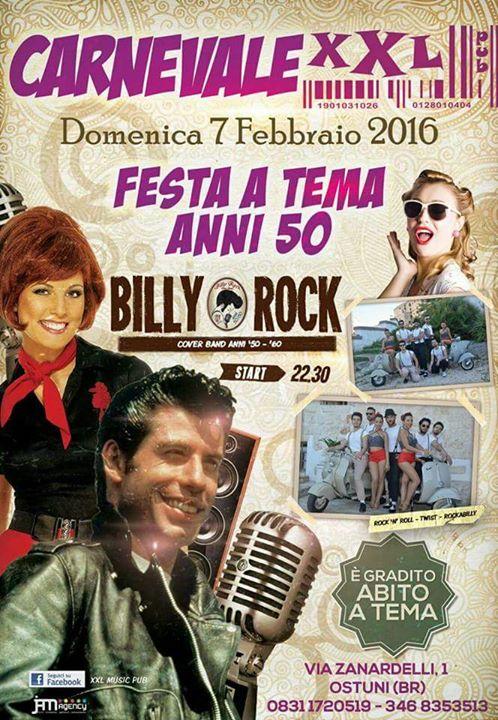 Carnevale Allxxl Festa A Tema Anni 50 Billyrock Live At Xxl