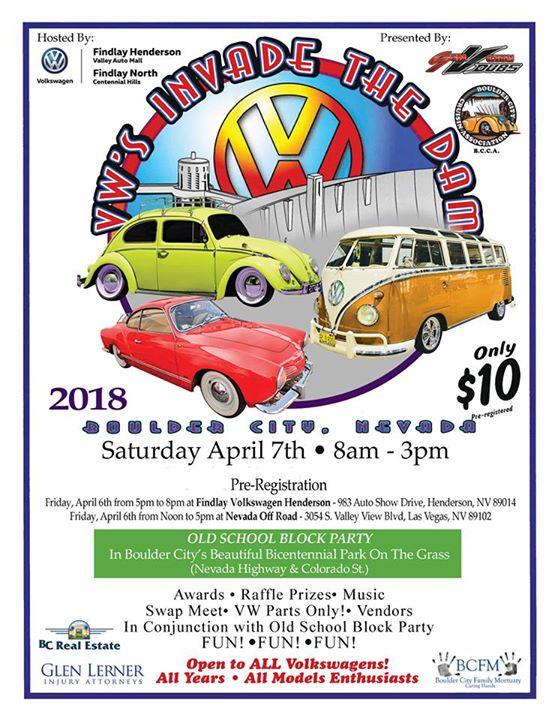 VWs Invade The Dam Car Show At Colorado St Boulder City NV - Car show henderson nv